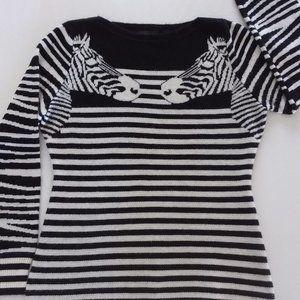 Beautiful Parkhurst zebra print Sweater